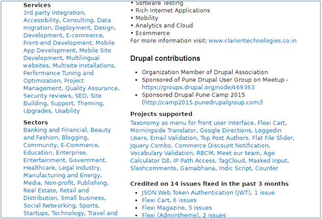 Clarion's Contribution to the Drupal Community