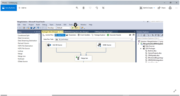 Step to run SSIS package: