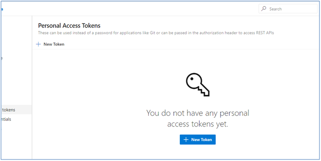 Personal Access Token - Add