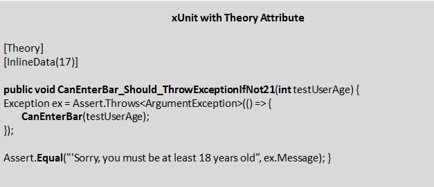 xUnit with Theory attribute