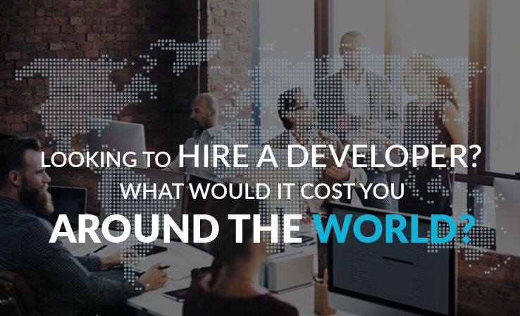Hiring a developer for your next project? Find out what it would cost you around the world