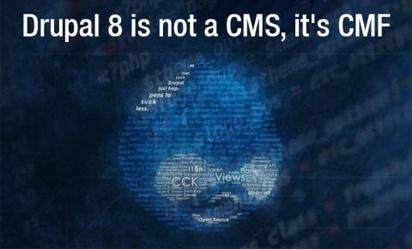 Drupal 8 Is Not A CMS, It's CMF