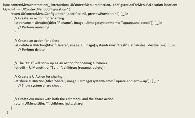code to add submenu