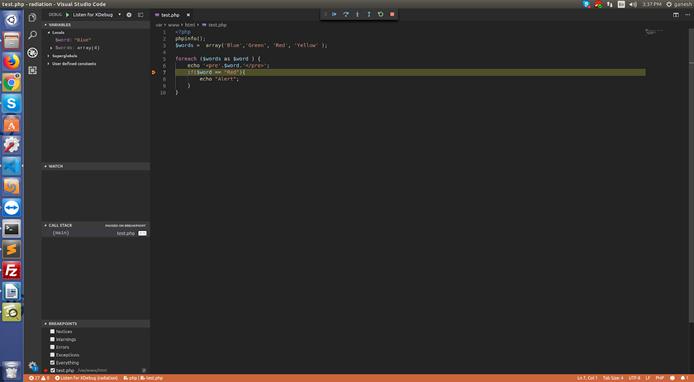 VSCode Xdebug Bar